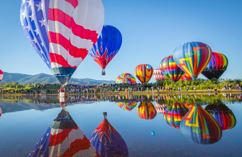 Balloons at Nomadness Rentals.