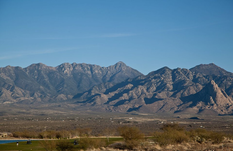 View of the Santa Rita Mountain Range at Wyndham Ranch Resort