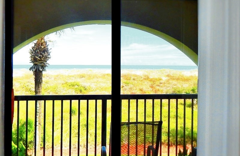 Rental balcony at Family Sun Vacation Rentals.