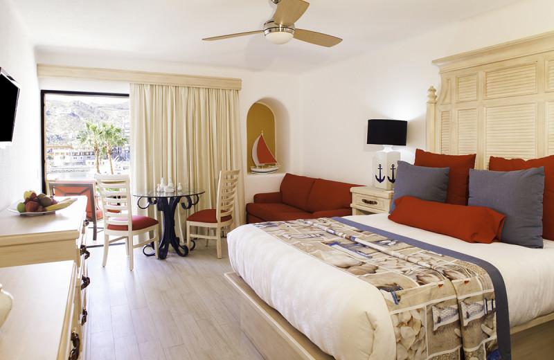 Guest room at Marina Fiesta Resort and Spa.