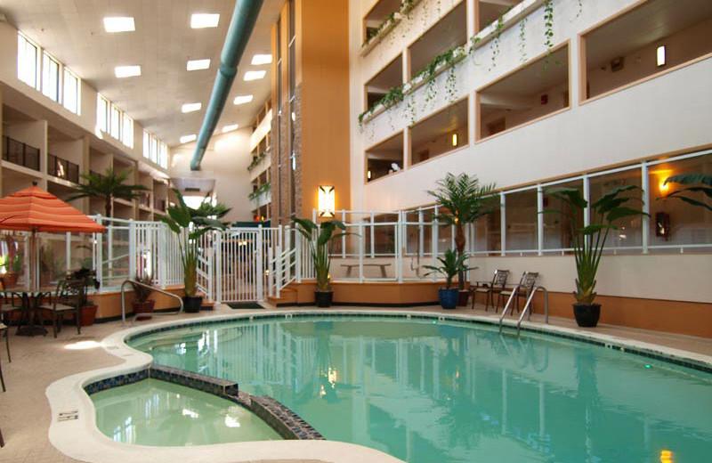 Indoor pool at Quality Inn Oceanfront Ocean City.