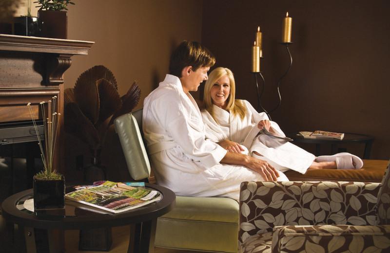 Couple at the spa at Moffat Inn.
