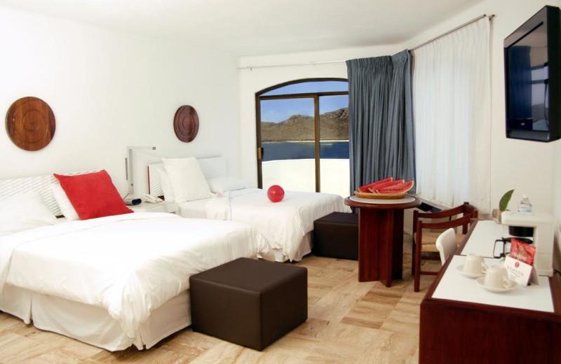 Guest room at Los Sabalos Mazatlan Hotel.