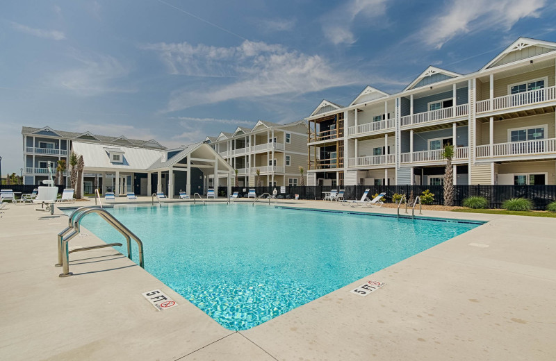 Rental outdoor pool at Realty World - First Coast Realty.