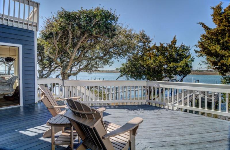 Rental deck at Topsail Realty.