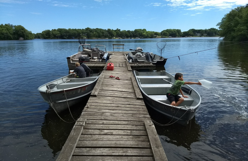 Dock at Riverside Resort.
