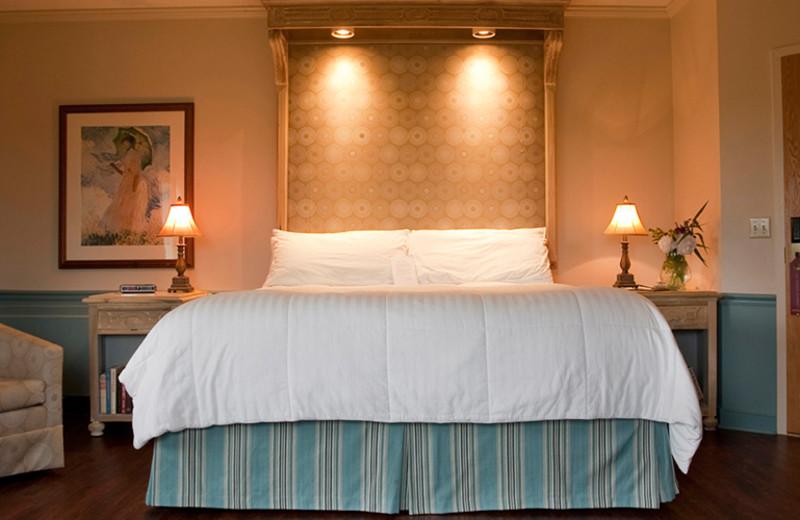 Guest room at La Tourelle Resort & Spa.