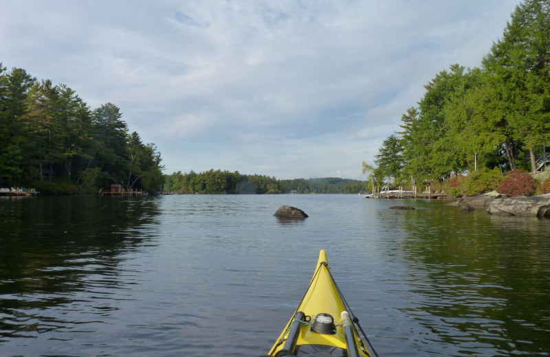 Kayaking near Cathedral Ledge Resort.