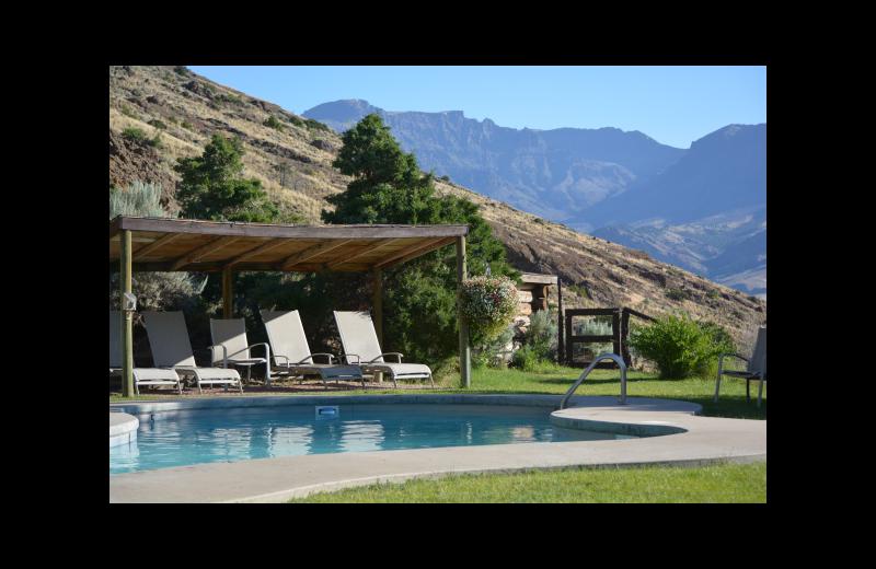 Outdoor pool at Rimrock Dude Ranch.