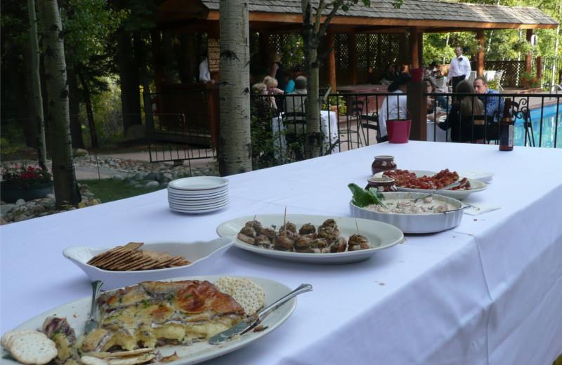 Dining at Tumbling River Ranch.