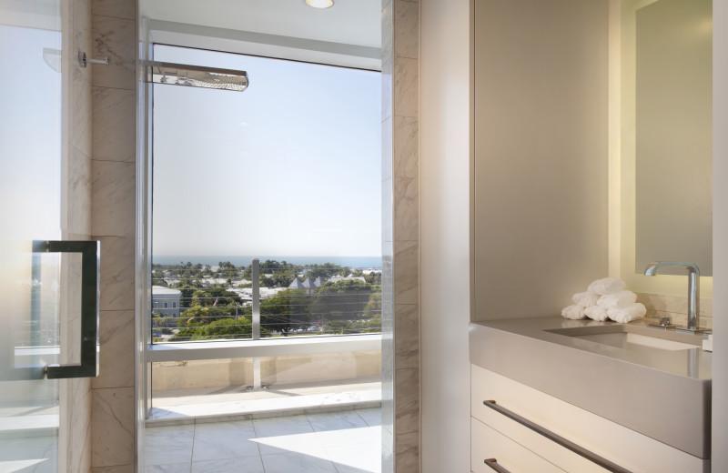 Guest bathroom at La Concha Hotel & Spa.