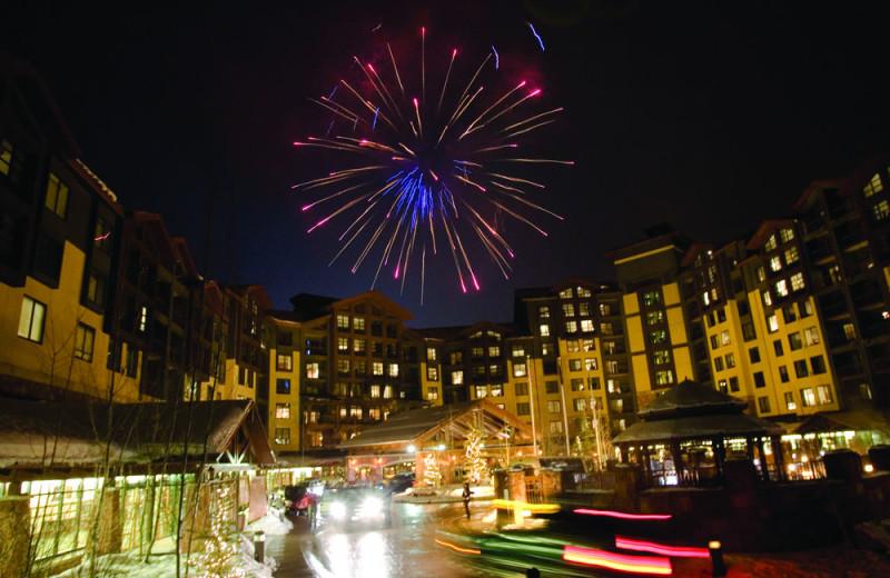 Holiday fireworks at Grand Summit Resort Hotel.