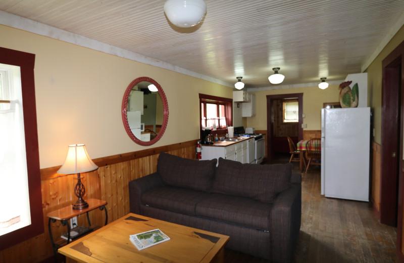 Cabin interior at The Cabins at Historic Columbine.