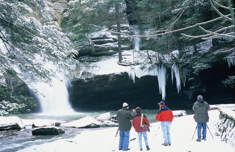 Waterfall near Heritage Cabin.