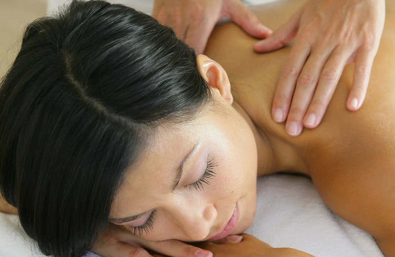 Spa back massage at The Nantucket Hotel and Resort.