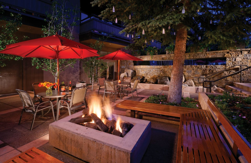 Patio at Aspen Square Condominium Hotel.