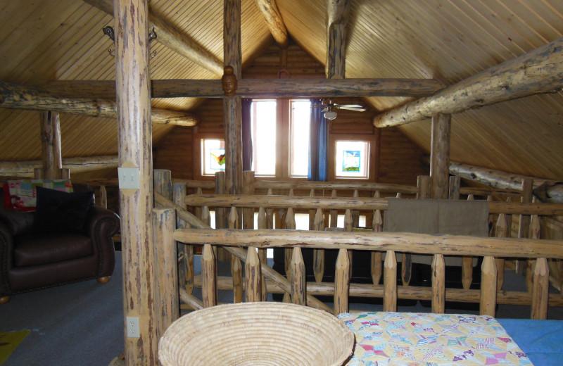 Cabin interior at Madison Management.