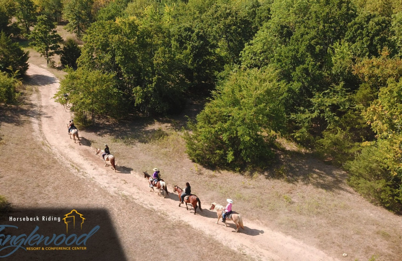 Horseback riding at Tanglewood Resort and Conference Center.