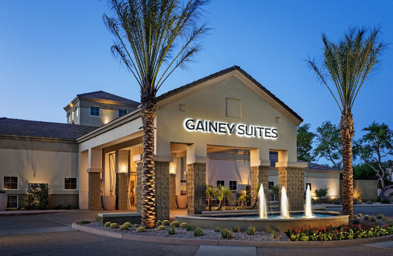 Exterior view of Gainey Suites Hotel.