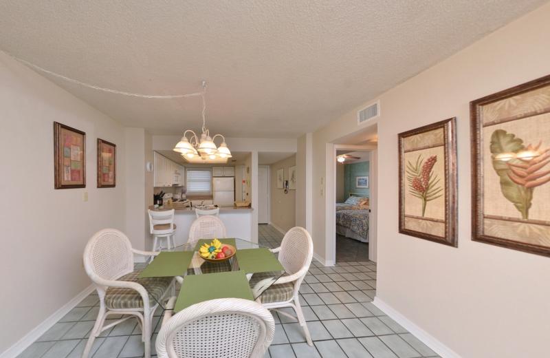 Rental kitchen at Coastal Properties.