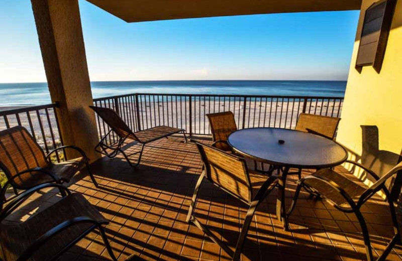 Rental balcony at Luna Beach Properties.
