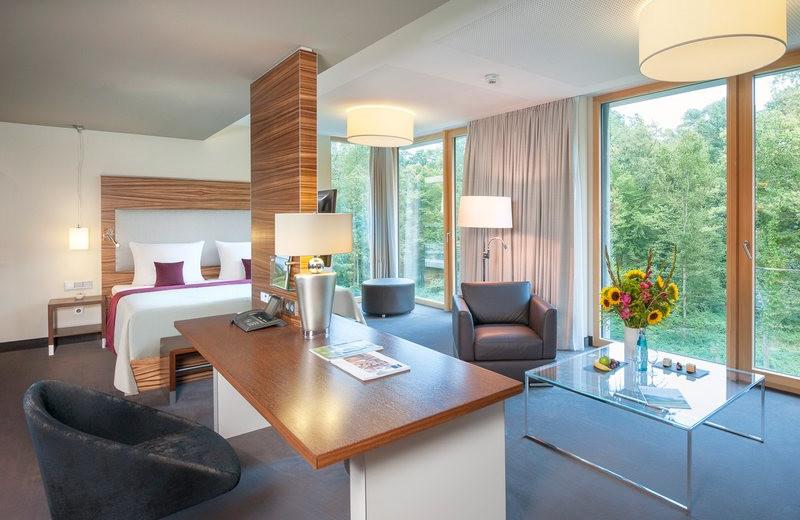 Guest room at Dorint Hotel Freiburg.