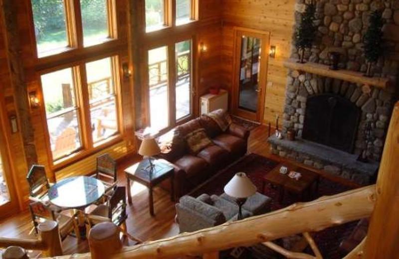 Living Room at Camp Wildlife   On Mirror Lake