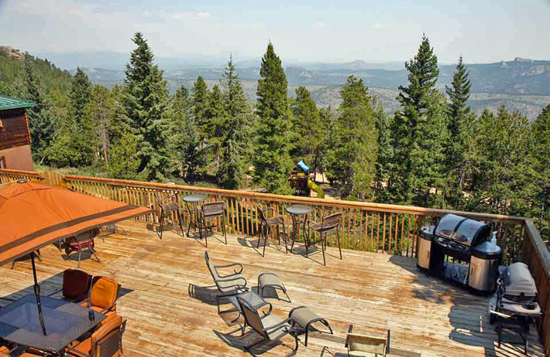 Deck view at Eldora Lodge.