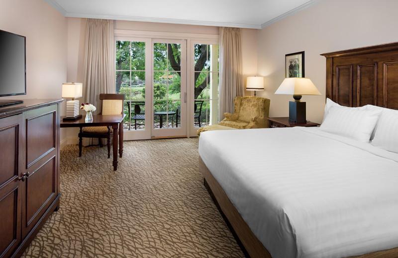 Guest room at Hyatt Regency Lost Pines Resort and Spa.