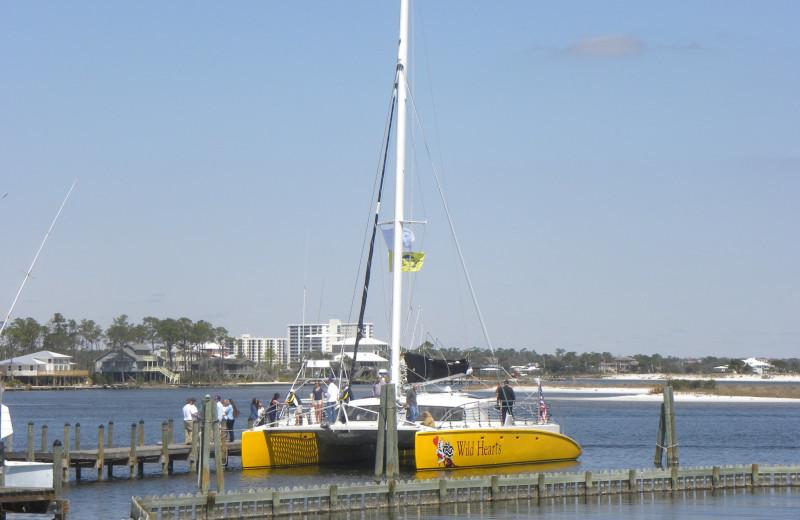 Cruise boat at Perdido Beach Resort.