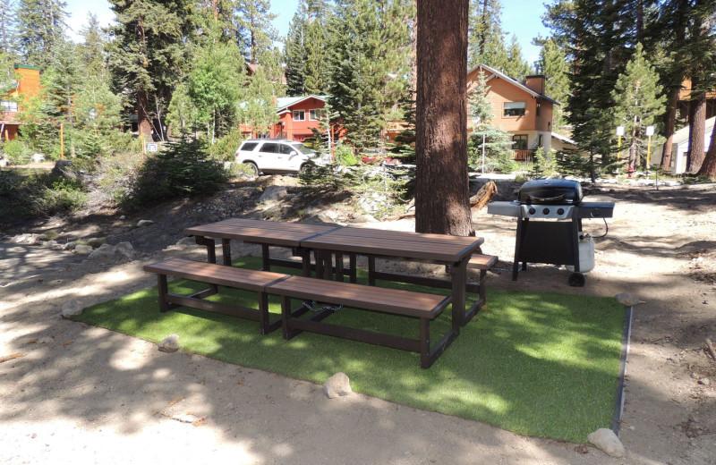 Picnic area at Seasons 4 Condominium Rentals.