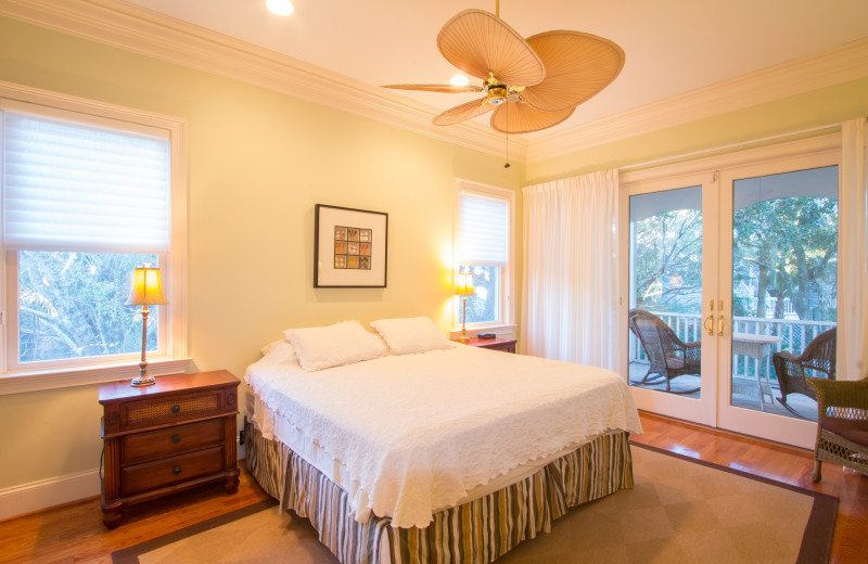 Rental bedroom at Island Realty.