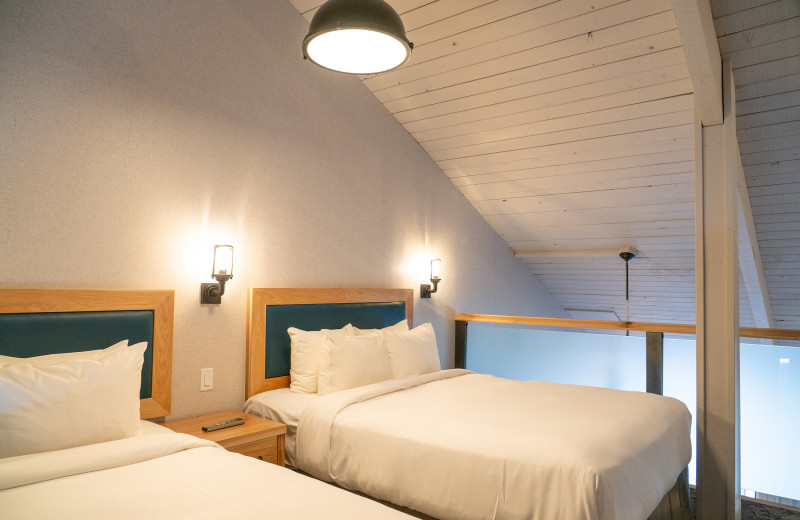 Guest bedroom at Tunnel Mountain Resort
