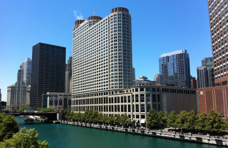 Exterior view of Sheraton Chicago Hotel & Towers.