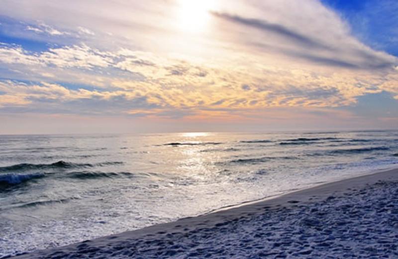 Sunset over ocean at Seascape Resort.