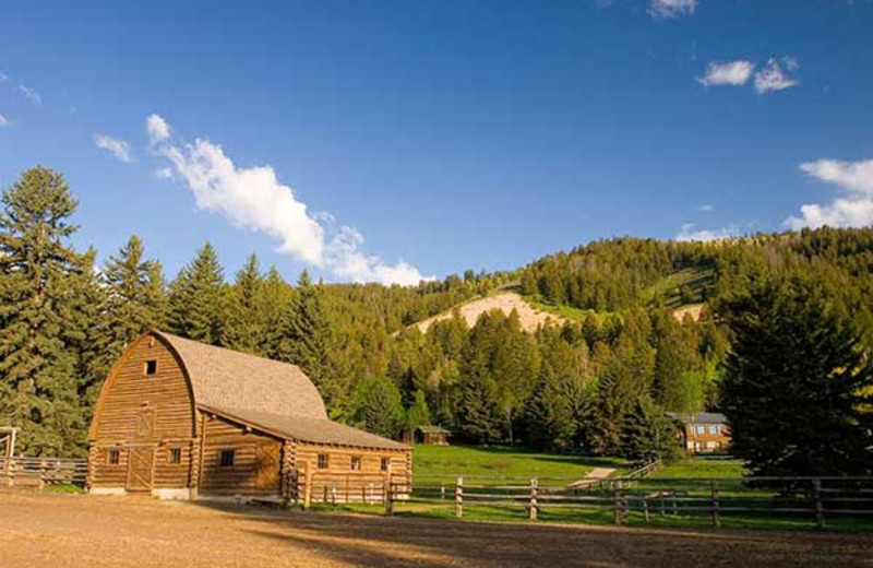Barn view at Trail Creek Ranch.