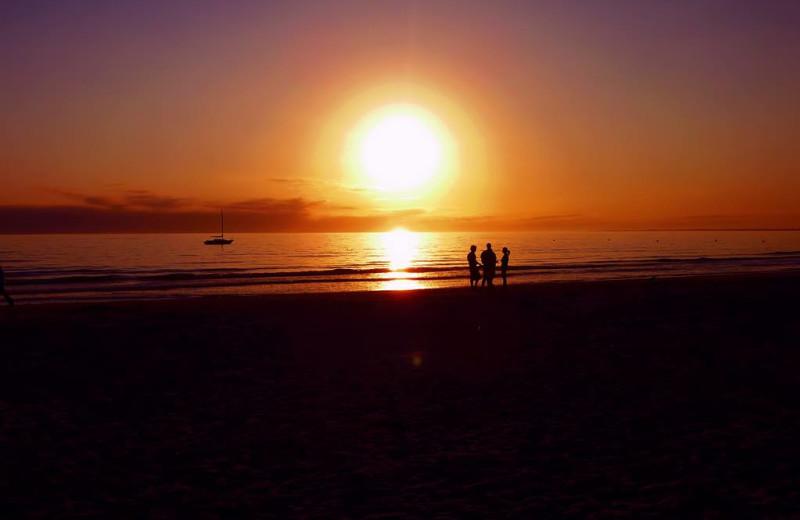 Sunset at Lighthouse Resort Inn & Suites.