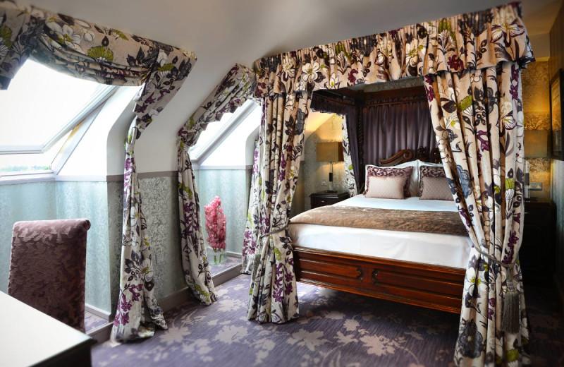 Guest room at Clontarf Castle.