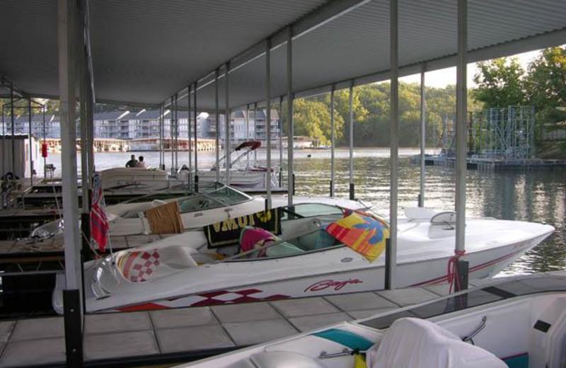 Boat docks at Robin's Resort.