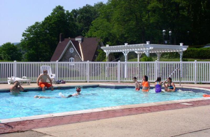 Swimming at Inn on the Hudson.