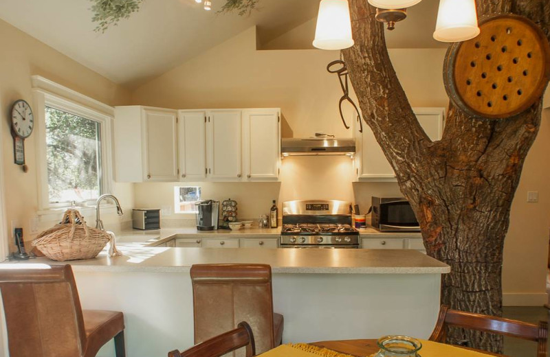 Rental kitchen at Sonoma County Vacations.