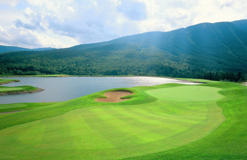 Golf course near Stowe Mountain Lodge.