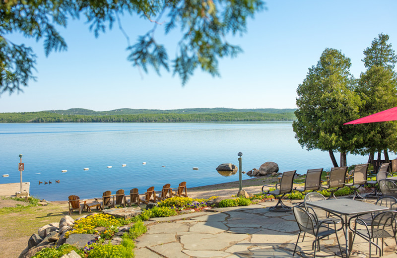 Beach at Gunflint Lodge.