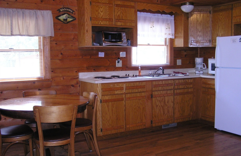 Mill Creek Resort on Table Rock Lake Cabin kitchen