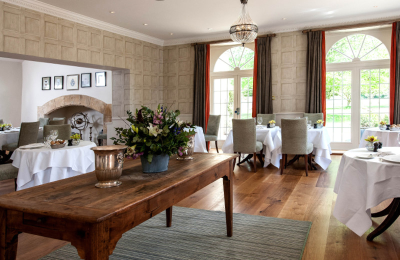 Dining at Lower Slaughter Manor.