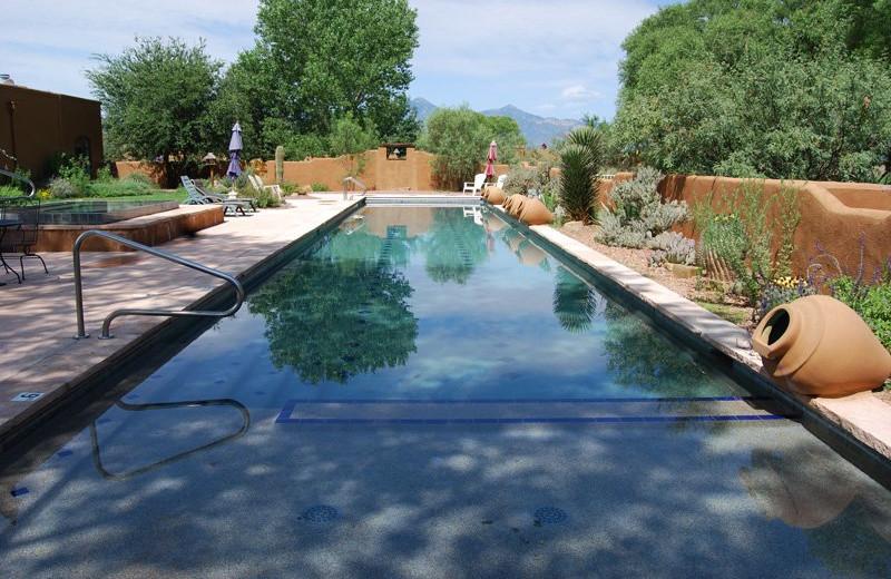 Outdoor pool at San Pedro River Inn.