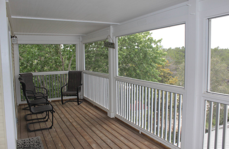 Rental deck at Seagrove On The Beach Property Rentals.