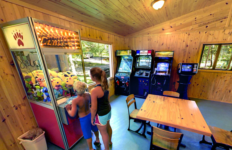 Game room at Black Pine Beach Resort.