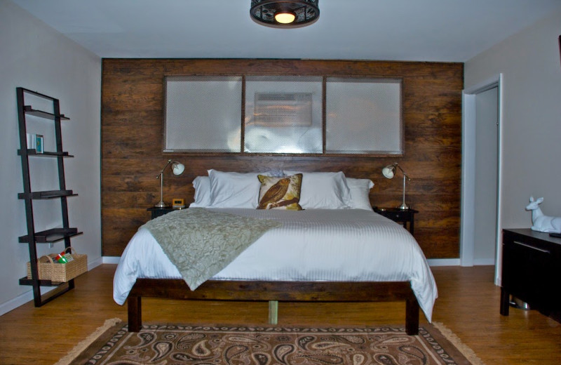 Guest room at Hotel Flora & Fauna.