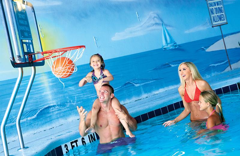 Water basketball at Paradise Resort.